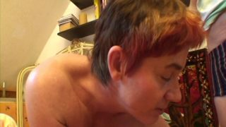 Old crack whore is fucked by young guy