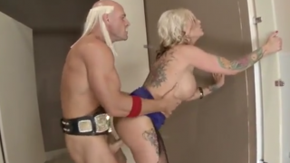 Big titted blonde fucked by Hulk Hogan