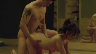 Japanese chick fucked by her yoga instructor