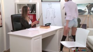 Kira Zen and Naomi Bennet have fun with a strap-on after school hours