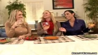 Three housewives invite gigolo
