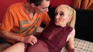 Nanney is a lusty grandma crazy for cock