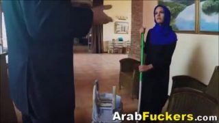 Arabian chick takes a monster dick up her pussy