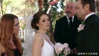 Whore bride gets gangbaged before wedding