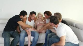 Young Maddy gets ready for her first gangbang