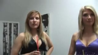 Two busty blondes for a lucky cock
