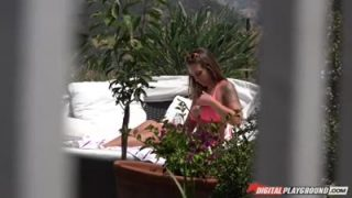 Laya London spied while sunbathing and tans
