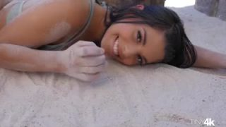 Hot latina girl gets creampied by fat dick