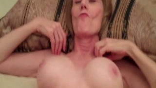 Mature broad creampied by her boy