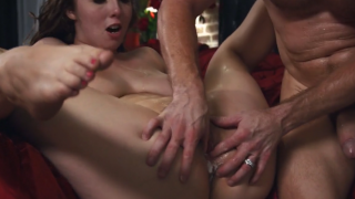Lena Paul takes a huge load in her pussy